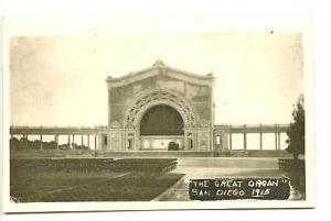 Pan American Expo The Great Organ RPPC Postcard