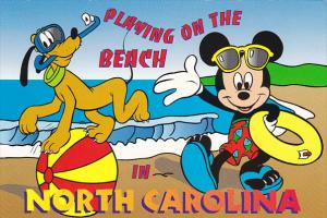 Disney Company Playing On The Beach In North Carolina