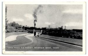 Union Pacific Railroad Viaduct, Mountain Home, ID Postcard
