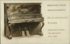 Machine Made Photographs Garraways New York City Broadway Harmonist Piano
