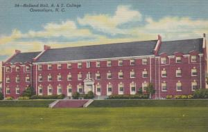 GREENSBORO, North Carolina, 30-40s: Holland Hall, A. & T. College