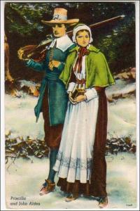 Priscilla & John Alden - Pilgrims