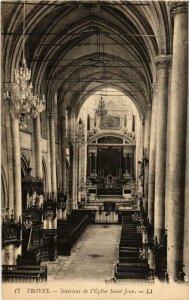 CPA Troyes- Eglise Saint Jean , Interieur FRANCE (1007621)