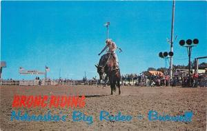 Burwell Nebraska~Big Rodeo~Bronc Riding~Never A Cowboy Couldn't Be Throwed~1960s