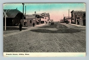 Aitkin MN-Minnesota, Fourth Street, Vintage c1915 Postcard