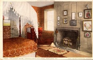 Maine Portland Longfellow's Old Home The Guest Room Detroit Publishing