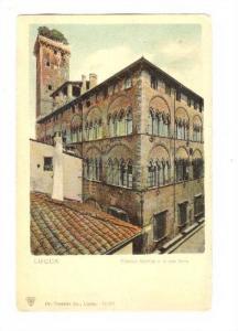 LUCCA , Italy , 1890s ; Palazzo Guinigi e la sua torre