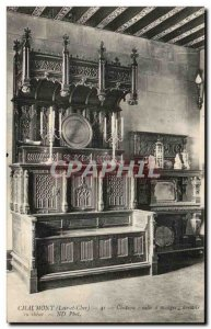 Postcard Old Chateau Chaumont Eating room has oak sideboard