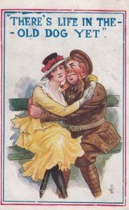 Girl & Soldier Couple , 1910s