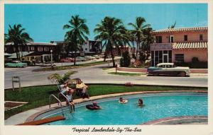 Motel Row, Swimming Pool, FORT LAUDERDALE, Florida, 40-60´s