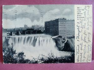 Old postcard Upper Falls Genesee River Rochester, NY 1906