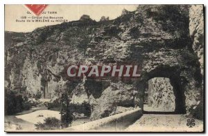 Postcard Old Tarn Gorges Cirque des Beaumes Road Malene in Rozier
