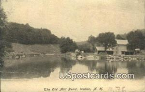 Old Mill Pond Wilton NH 1907