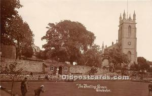 Old Vintage Lawn Bowling Postcard Post Card The Bowling Green Clevedon Unused