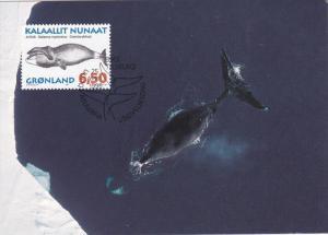Stamp & Postcard , Whale #2 , GRONLAND , PU-1996
