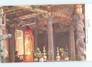 Pre-1980 TUTERIOR OF LUNG-SHAN TEMPLE Taipei Wanhua District Taiwan China F5077