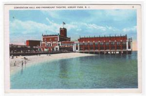 Paramount Theater Convention Hall Asbury Park New Jersey postcard