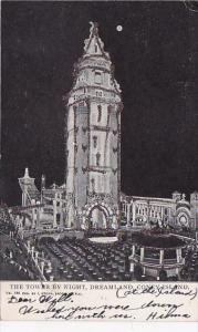 New York Coney Island The Tower By Night Dreamlan 1905