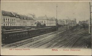 Arlon France RR Train & Station c1905 Panorama Postcard
