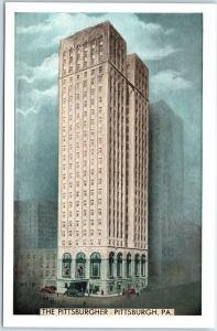 Pittsburgh, Pennsylvania Postcard THYE PITTSBURGHER HOTEL Lumitone c1940s Unused