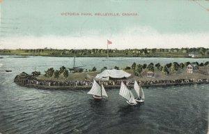 BELLEVILLE , Ontario, 1910 ; Victoria Park, Sailboats