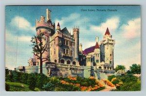 Toronto ON-Ontario Canada, Casa Loma, Linen c1953 Postcard