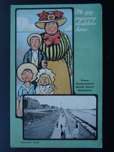 Lancashire BLACKPOOL North Shore THREE PROMENADES c1903 UB Postcard