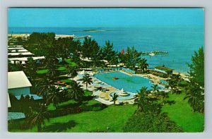 Caribbean, Grand Bahama Hotel, Aerial View Coastline, Chrome c1971Postcard
