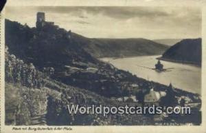 Pfalz Germany, Deutschland Postcard Kaub mit Burg Gutenfels Pfalz Kaub mit Bu...