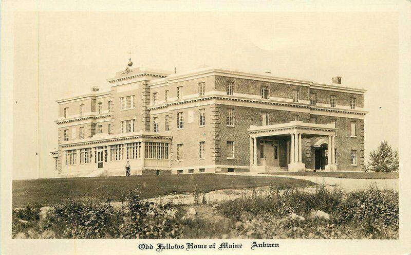 Auburn 1920s Odd Fellows Home of Maine RPPC Photo Postcard 2141