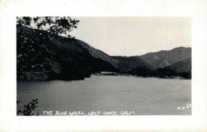 USA The Blue Lakes Lake County California RPPC 03.31