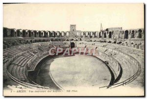 Old Postcard Arles Inside view of Arenes