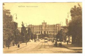 Trolley, Maximiliansbrucke, Munchen (Bavaria), Germany, 1900-1910s