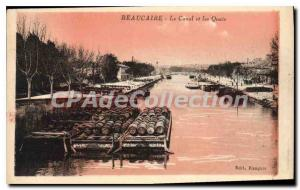 Old Postcard Beaucaire Canal And The Quays