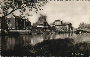CPA SAMOIS-sur-SEINE Quai Franklin-Roosevelt vu depuis l'ile de SAMOIS (120284)
