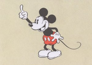 Mickey Mouse Laughing Thumbs Up Walt Disney Postcard