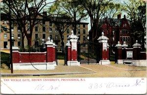 VAN WICKLE GATE, BROWN UNIVERSITY, PROVIDENCE, RI., POSTCARD - PC