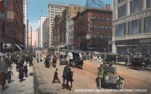 State Street, North from Adams Street, Chicago, IL, Early Postcard, Unused