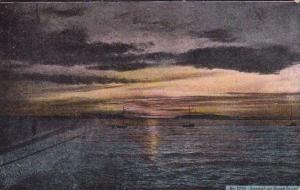 Washington Everett No 1235 Sunset On Puget Sound 1909