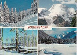 Canada British Columbia Snowscapes Winter Scenes