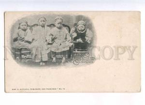 232886 USA SAN FRANCISCO CHINATOWN children 1898 year postcard