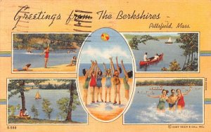 Greetings from The Berkshires Pittsfield, Massachusetts Postcard