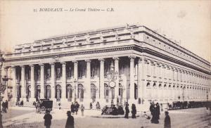 Le Grand Theatre , BORDEAUX (Gironde), France, 1900-1910s