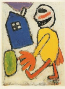 Hans Scharer Swiss Erotic Painter Artist Exhibition Postcard