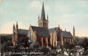 England St. Nicholas Church, Gt. Yarmouth, graveyard, Norfolk 1911