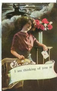 I am thinking of you at, 1915 used Postcard
