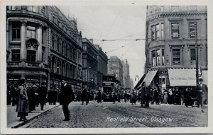 Renfield Street Glasgow Scotland UK Unused Caledonia Series Postcard F62