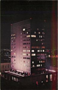 Amarillo Texas~Amarillo National Bank Building Plaza One @ Night~1960s PC