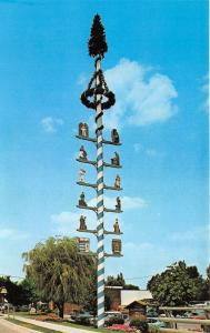 Frankenmuth Michigan~Maibaum (Maypole)~Info on Back~1979 Postcard
