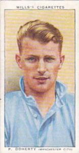Wills Vintage Cigarette Card Association Footballers No 17 P Doherty Manchest...